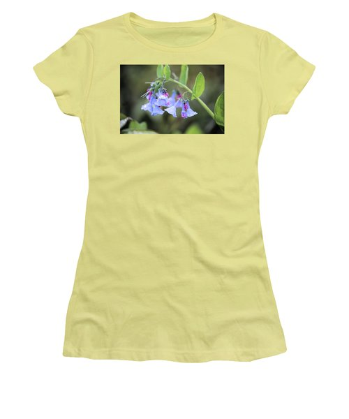 Raindrops On Blue Bells Women's T-Shirt (Athletic Fit)