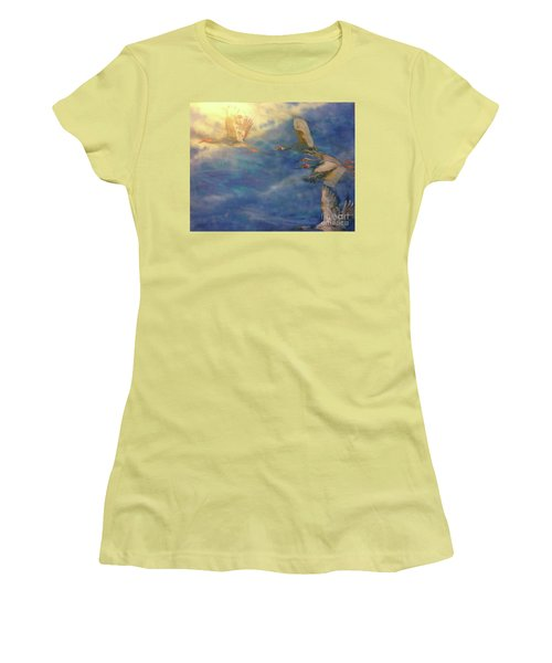Raining Tears Women's T-Shirt (Junior Cut) by FeatherStone Studio Julie A Miller