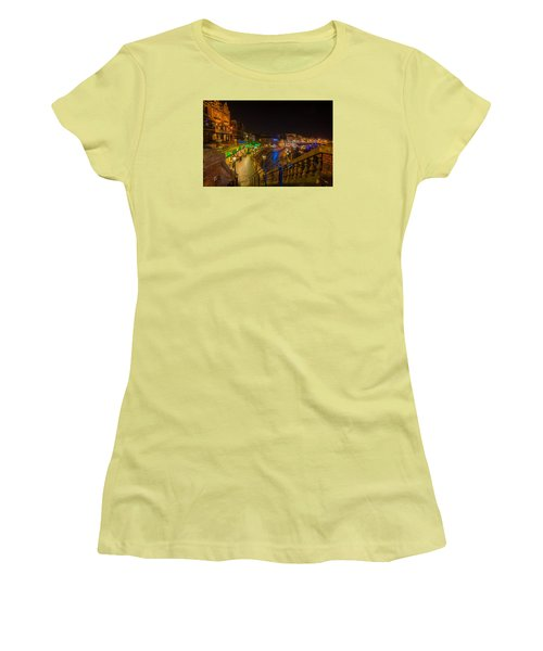Ramsgate West Cliff Arcade Restaurants At Night  Women's T-Shirt (Athletic Fit)