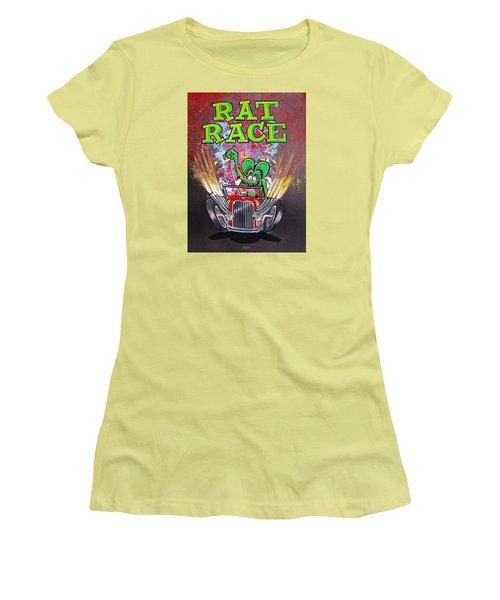 Rat Race Women's T-Shirt (Junior Cut) by Alan Johnson