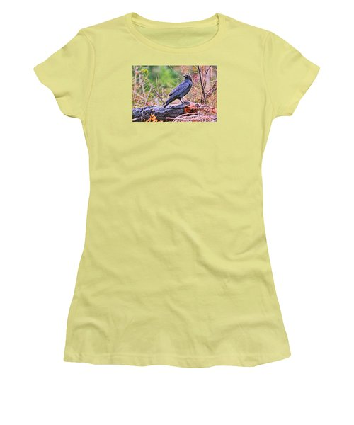 Women's T-Shirt (Junior Cut) featuring the photograph Raven by Peggy Collins