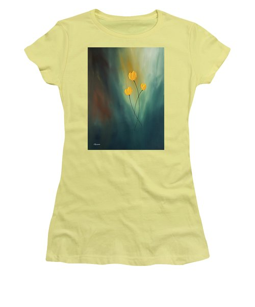Women's T-Shirt (Junior Cut) featuring the painting Rays Of Hope by Carmen Guedez