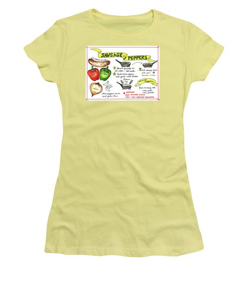 Recipe Sausage And Peppers Women's T-Shirt (Athletic Fit)