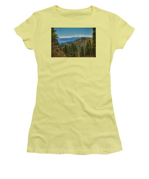 Women's T-Shirt (Junior Cut) featuring the photograph Recovery After Fire At Yellowstone by Penny Lisowski