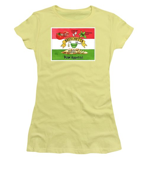 Recpe-bruschetta Women's T-Shirt (Athletic Fit)