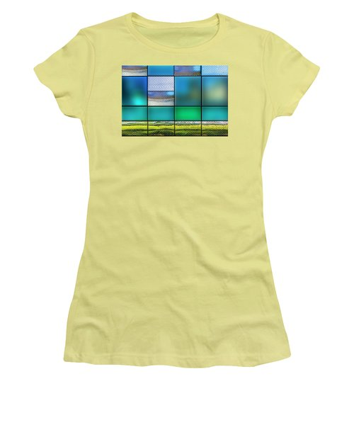 Women's T-Shirt (Athletic Fit) featuring the photograph Rectangles by Paul Wear