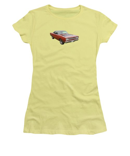 Red 1968 Plymouth Roadrunner Muscle Car Women's T-Shirt (Athletic Fit)