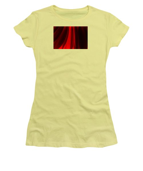 Red Abstract Of Chrysanthemum Wildflower Women's T-Shirt (Junior Cut) by John Williams