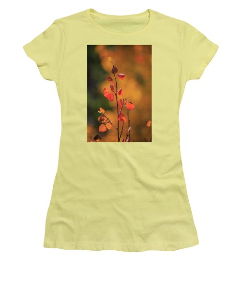 Women's T-Shirt (Athletic Fit) featuring the photograph Red And Gold by David Chandler