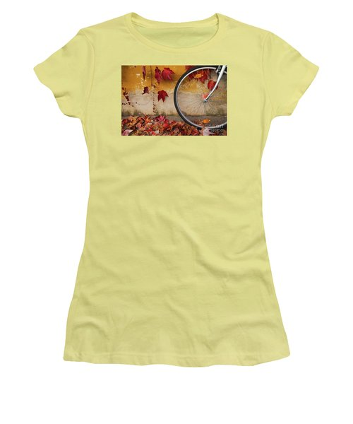 Women's T-Shirt (Junior Cut) featuring the photograph Red Autumn by Yuri Santin
