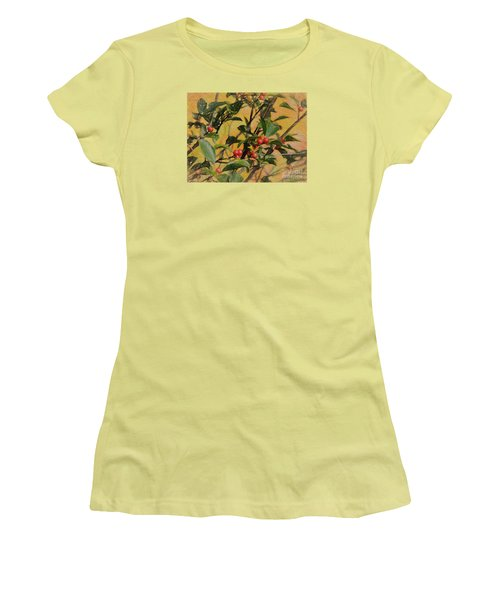 Women's T-Shirt (Junior Cut) featuring the photograph Red Berry by Mim White