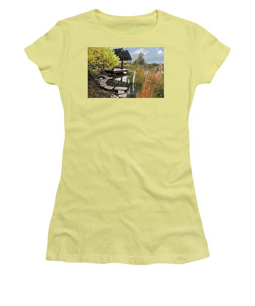 Red Butte Gardens Women's T-Shirt (Junior Cut) by Utah Images