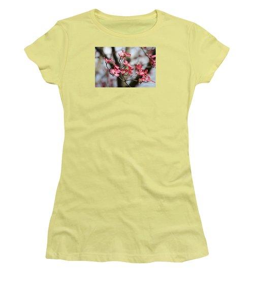 Red Cloud Dogwood 2012410_90a Women's T-Shirt (Junior Cut) by Tina Hopkins