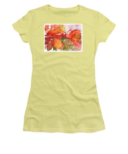 Red Dance Women's T-Shirt (Junior Cut) by Jasna Dragun