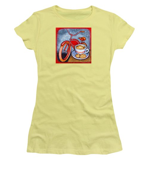 Red Electra Delivery Bicycle Cappuccino And Amaretti Women's T-Shirt (Athletic Fit)