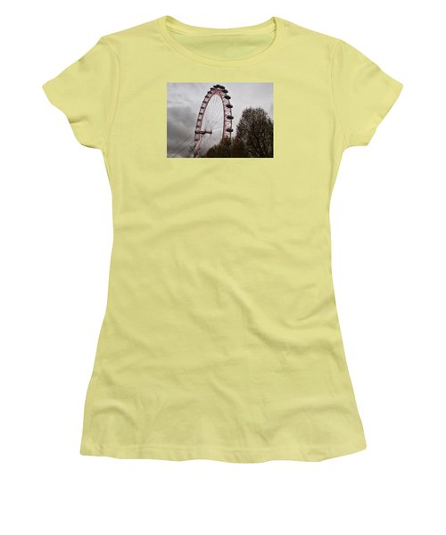 Women's T-Shirt (Junior Cut) featuring the photograph Red Eye by Shirley Mitchell