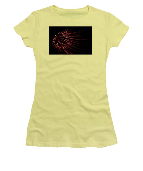 Women's T-Shirt (Junior Cut) featuring the photograph Red Firework  by Chris Berry