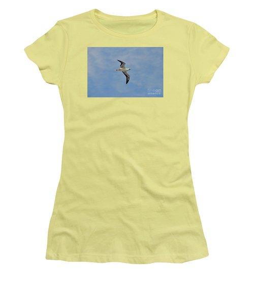 Women's T-Shirt (Junior Cut) featuring the digital art Red Footed Booby Bird 4 by Eva Kaufman
