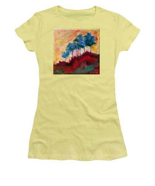 Red Glade Women's T-Shirt (Junior Cut) by Elizabeth Fontaine-Barr