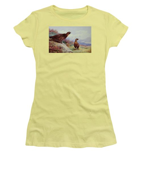 Red Grouse On The Moor, 1917 Women's T-Shirt (Athletic Fit)