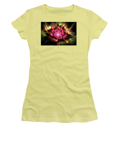 Women's T-Shirt (Junior Cut) featuring the digital art Red Peony by Svetlana Nikolova