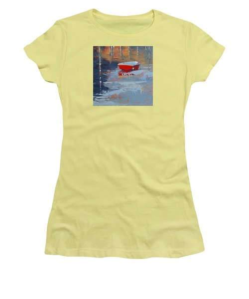 Red Reflections Women's T-Shirt (Athletic Fit)