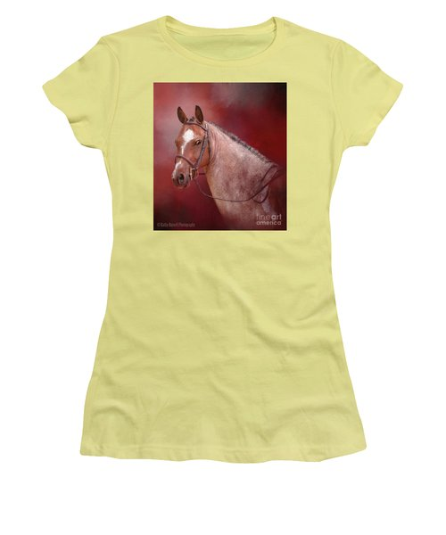 Red Roan Women's T-Shirt (Junior Cut) by Kathy Russell