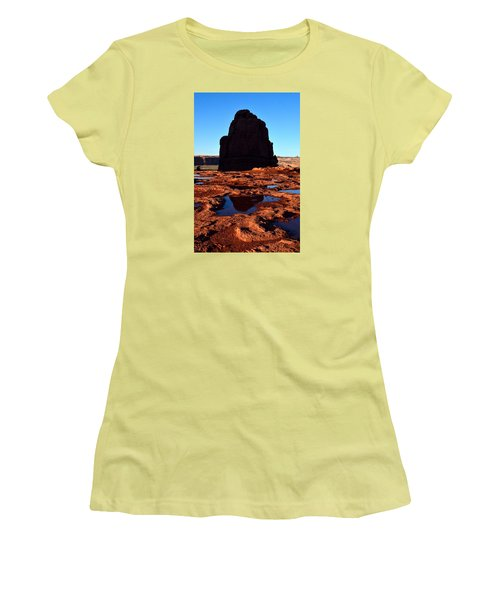 Red Rock Reflection At Sunset Women's T-Shirt (Athletic Fit)