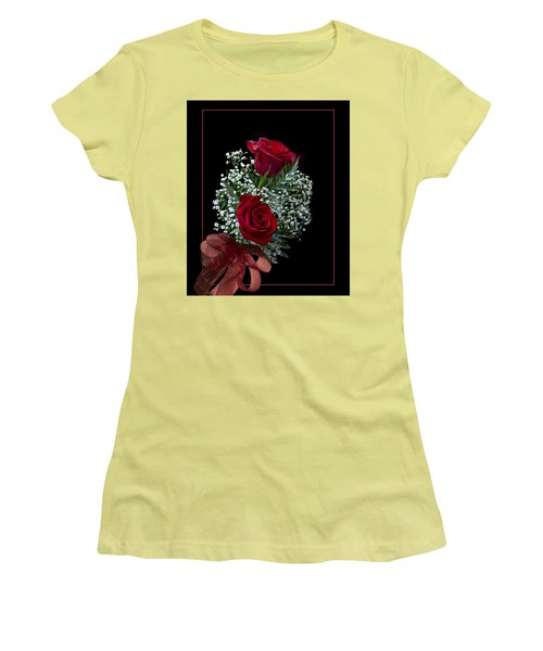Red Roses For A Blue Lady Women's T-Shirt (Junior Cut) by Judy Johnson