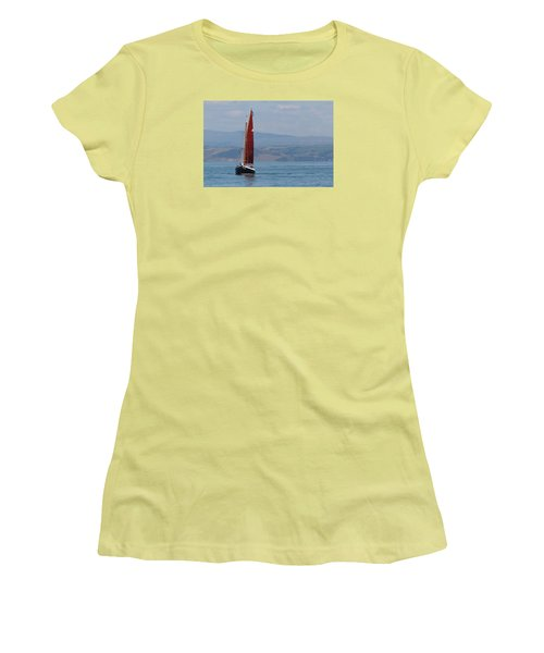 Red Sail Women's T-Shirt (Junior Cut) by Richard Patmore