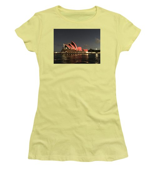 Red Sydney Opera House Women's T-Shirt (Athletic Fit)