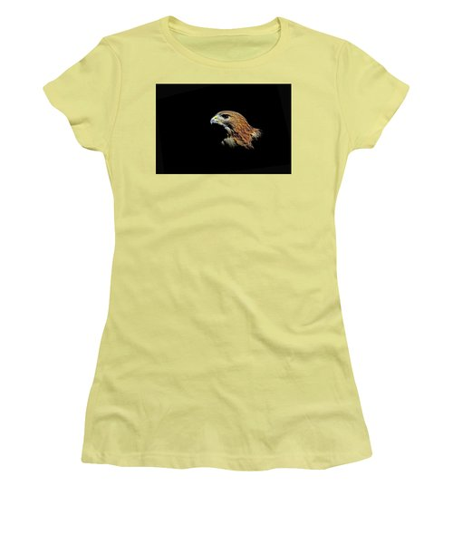 Red Tail Hawk Women's T-Shirt (Athletic Fit)