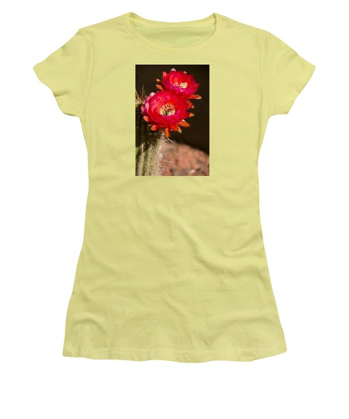Red Tops Women's T-Shirt (Junior Cut) by Laura Pratt