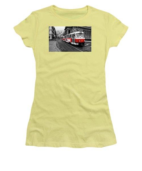 Red Tram Women's T-Shirt (Junior Cut) by M G Whittingham