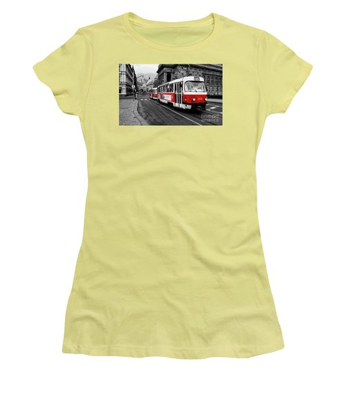 Red Tram Women's T-Shirt (Athletic Fit)