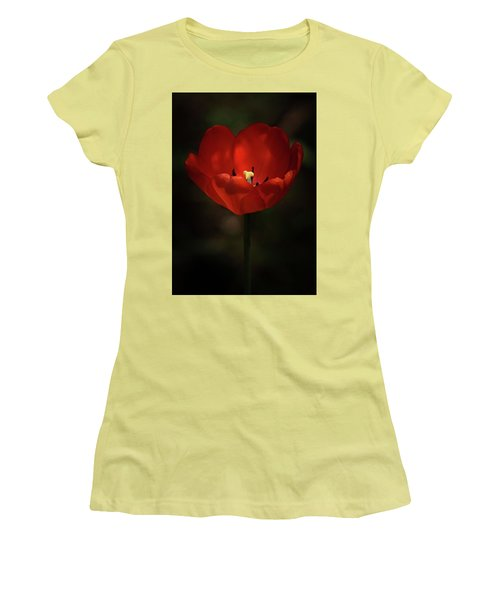 Red Tulip Women's T-Shirt (Junior Cut) by Ernie Echols