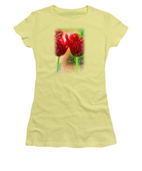 Red Tulips T-shirt Women's T-Shirt (Athletic Fit)