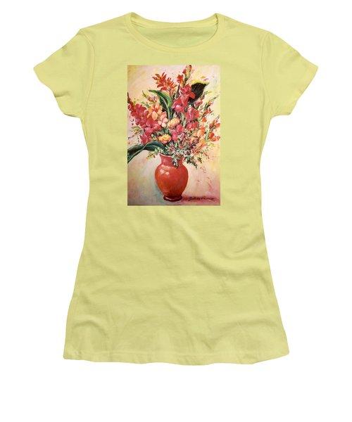 Red Vase Women's T-Shirt (Junior Cut) by Alexandra Maria Ethlyn Cheshire