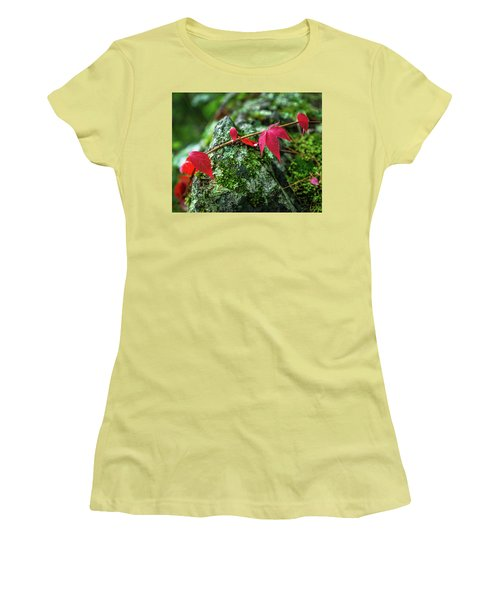 Women's T-Shirt (Junior Cut) featuring the photograph Red Vine by Bill Pevlor