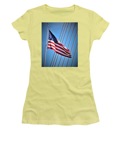 Red, White And Blue Women's T-Shirt (Athletic Fit)