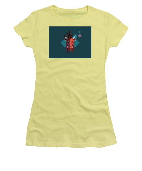 Women's T-Shirt (Junior Cut) featuring the digital art Red Xiii by Michael Myers