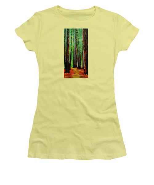 Redwoods Majestic 2 Women's T-Shirt (Junior Cut) by Mike Caitham