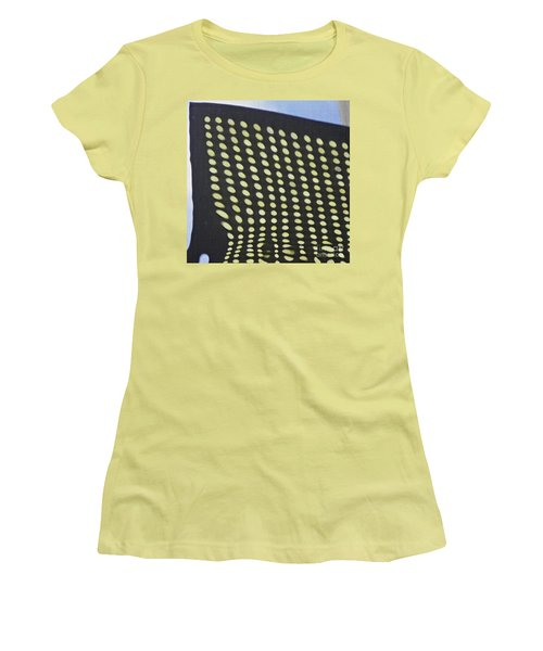 Women's T-Shirt (Junior Cut) featuring the photograph Reflection On 42nd Street 3 by Sarah Loft