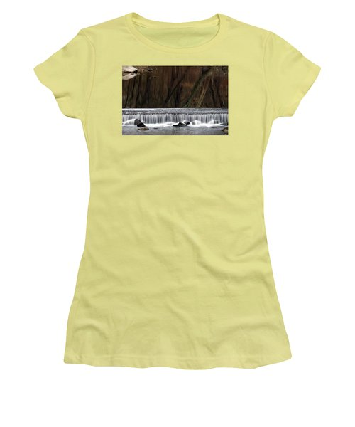 Reflections And Water Fall Women's T-Shirt (Junior Cut) by Dorin Adrian Berbier