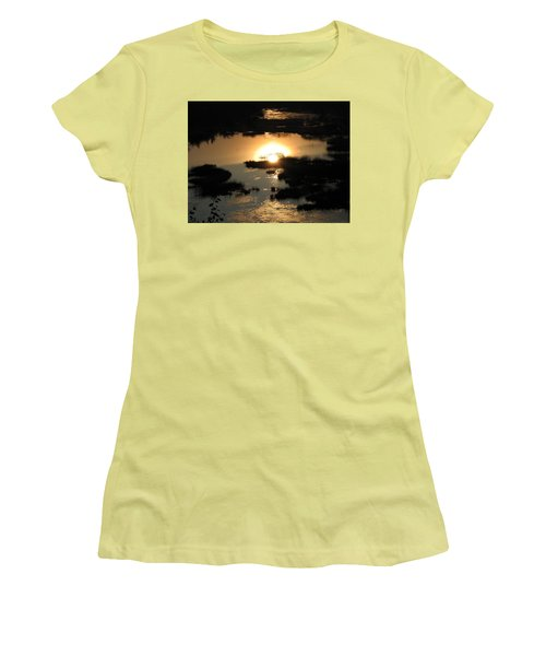 Reflections At Sunset Women's T-Shirt (Junior Cut) by Barbara Yearty