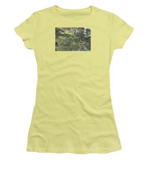 Women's T-Shirt (Junior Cut) featuring the photograph Reflections In The Japanese Gardens by Linda Geiger