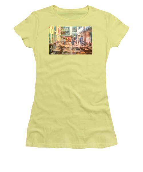 Reflections In The Pavement, Brown Street, Manchester Women's T-Shirt (Athletic Fit)