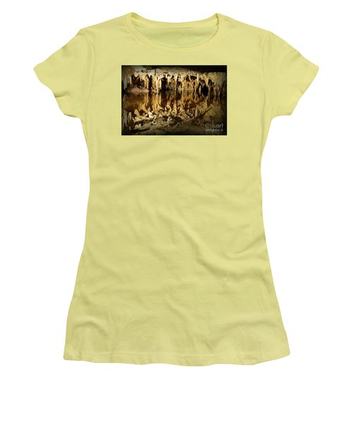 Reflections Of Dream Lake At Luray Caverns Women's T-Shirt (Junior Cut) by Paul Ward