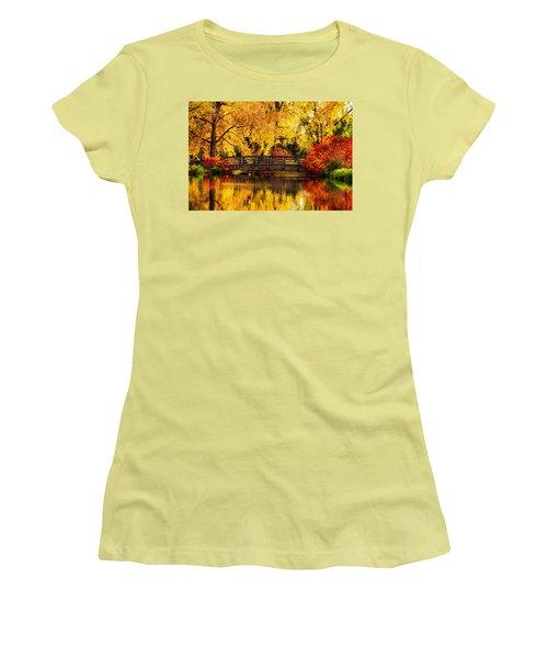 Reflections Of Fall Women's T-Shirt (Junior Cut) by Kristal Kraft