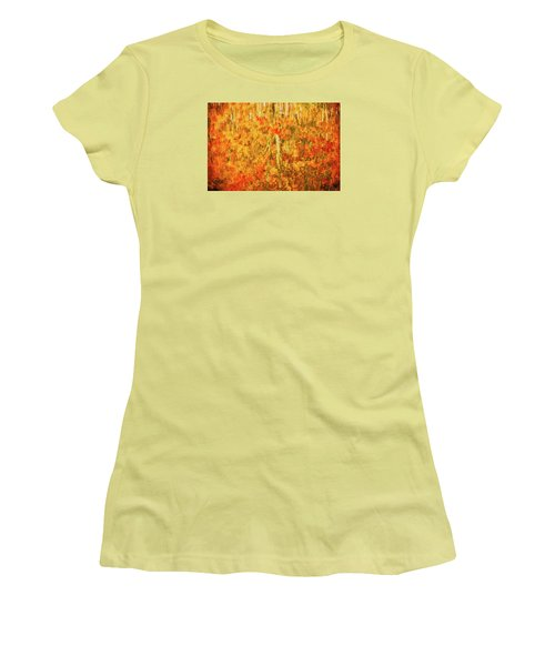 Reflections Of Fall Women's T-Shirt (Junior Cut) by Rick Furmanek